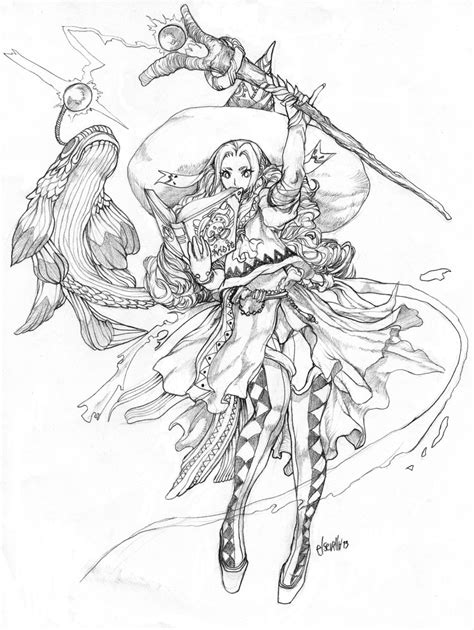 anime magical girl coloring pages magic fish by elsevilla on deviantart