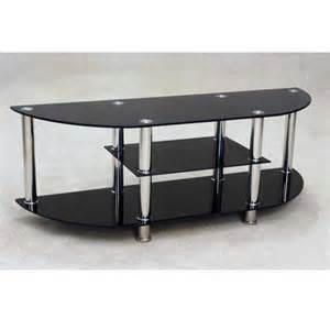 Details about bizet black glass tv stand