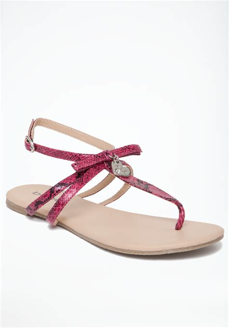 pink flat sandals bebe summer flat sandals in pink lyst
