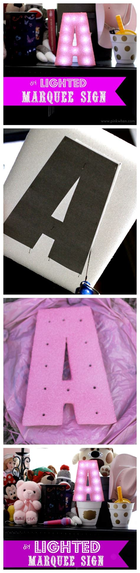 how to make a lighted sign how to make a marquee sign with styrofoam page 2 of 2