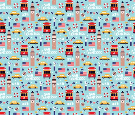 pattern maker san francisco san francisco usa travel icons colorful icons and
