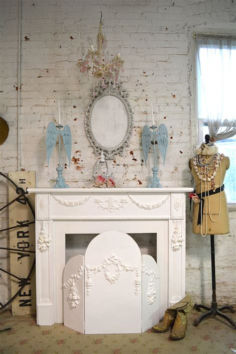 Shabby Chic Fireplace by Painted Cottage Shabby Chic Fireplace Screen Screen
