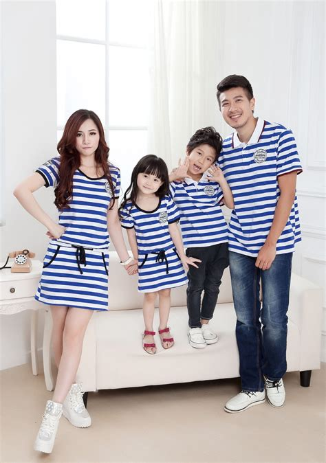 family clothes family matching suits parent kids clothing striped