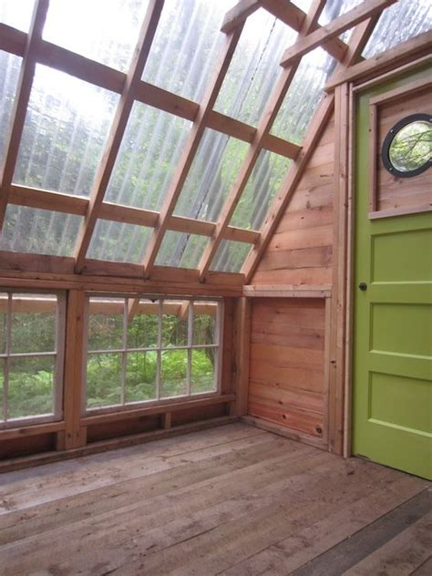 cabin cheery i like corrugated roofing used in tiny cabins cabin and greenhouses on