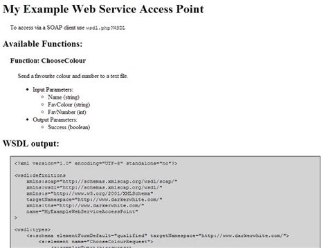 Php Web Service Wsdl Generator Soap Server Document Literal Codeproject Soap Web Service Documentation Template