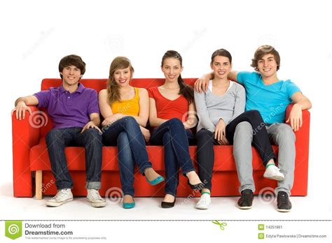 friends on couch friends sitting on couch stock image image 14251861