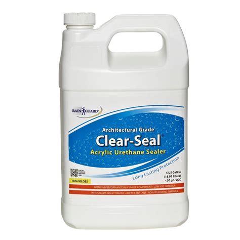 Clear Acrylic Sealer rainguard clear seal high gloss heavy traffic urethane