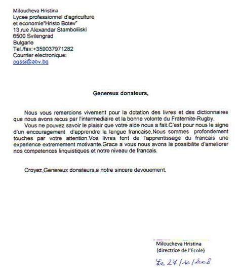Exemple De Lettre De Remerciement Pour Un Cadeau Professionnel lettre de remerciement stage 3eme modele so39 jornalagora