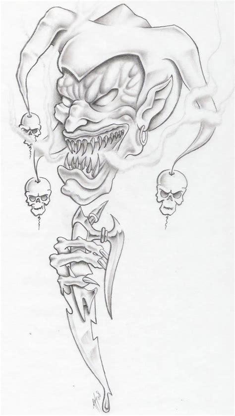 evil jester by markfellows on deviantart