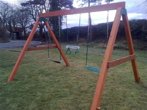 swing set heavy duty classic heavy duty a frame swing set by sttswings