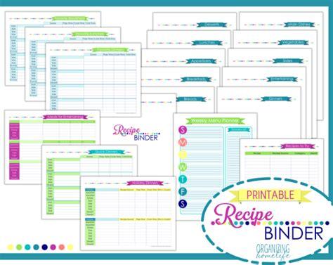 Make Room Planner recipe binder printable kit organizing homelife