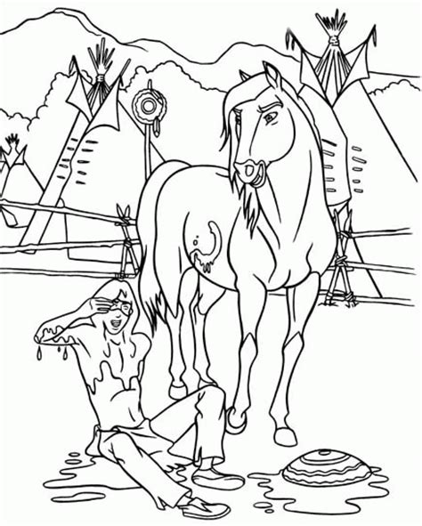 spirit coloring pages coloringpages1001 com