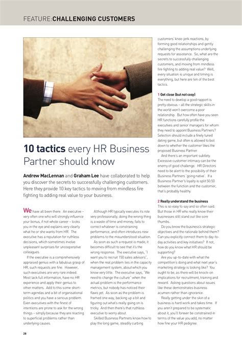 challenging customers challenging customers 10 tactics every hr business