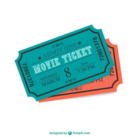 cinema ticket vector vector free download