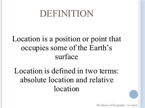 A Place Explanation The Basics Of Geography Location