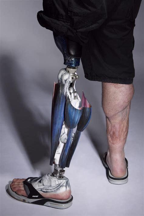 An Artificial 1 an artificial leg with cool