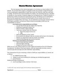 Mentoring Agreement Template mentor mentee agreement the main purpose of the mentoring program is