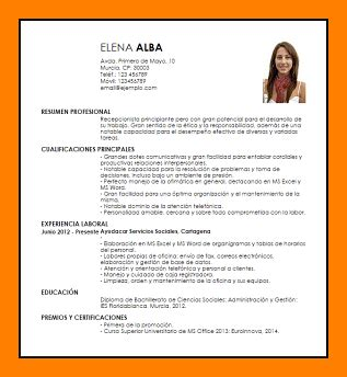Www Modelo Curriculum Vitae 4 Curriculum Modelo 2017 Resume Sections
