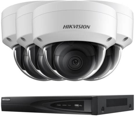 4 outdoor 5mp dome hd ip cctv with nvr, 30m night vision