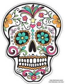 day of the dead skull mask template day of the dead mask template wordscrawl