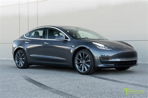 tesla model 3 gray 19 wheels cars and cars
