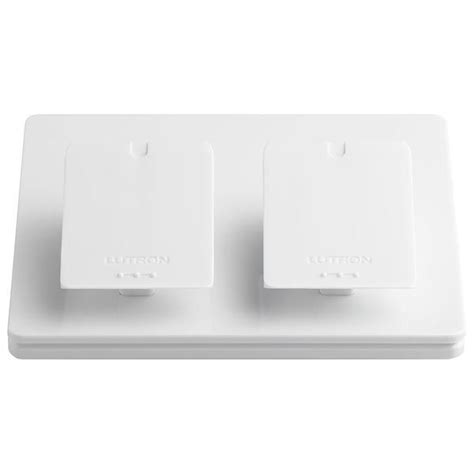 Lutron Tabletop Dimmer by Lutron Pico L Ped2 Wh Dual Table Top Pedestal White