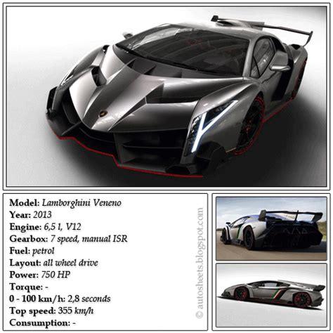 Lamborghini Veneno Engine Specs Auto Data Sheets Lamborghini Veneno 2013
