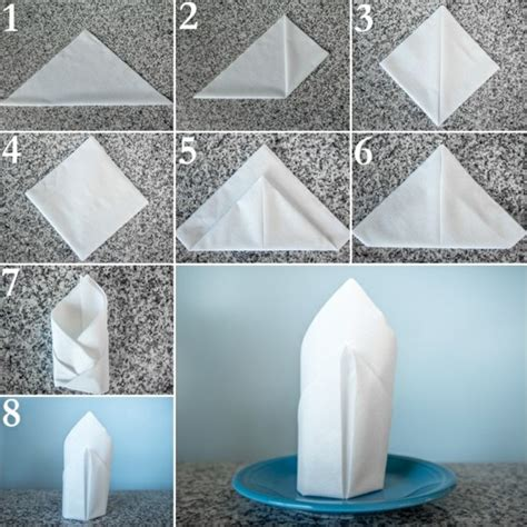 Table Napkin Origami - paper napkin folding festive table