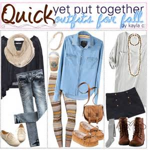 quick amp put together for fall time polyvore
