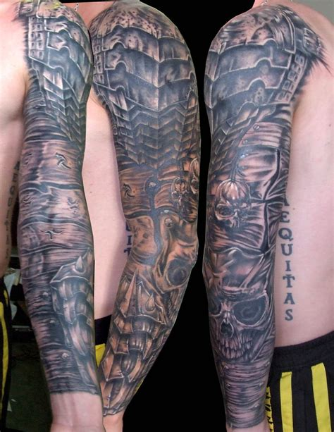 armor tattoo sleeve armour sleeve by zioman on deviantart