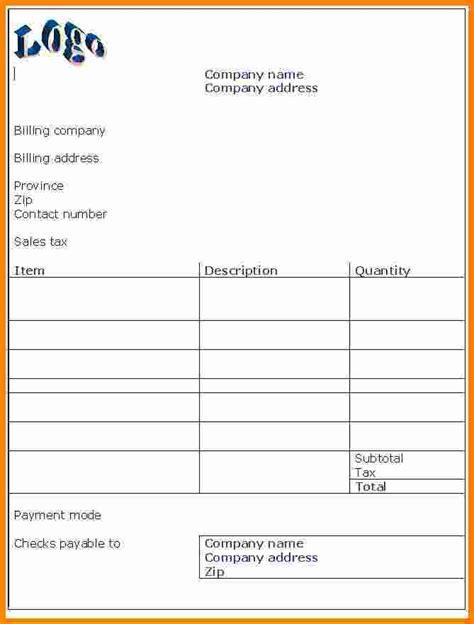 9 invoice bill format pdf ledger paper