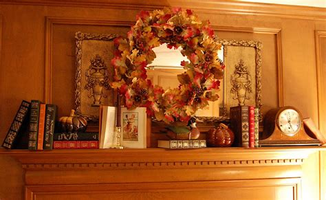 mantles are falling books decorate a mantel for fall