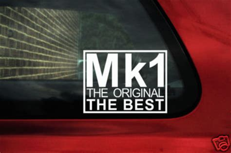 mk  original   sticker decalfor vw volkswagen mk golf gti jetta polo rabbit