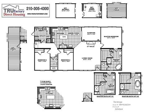 Cmh Schult Saratoga Mod Tru Factory Direct Tru Manufactured Homes Floor Plans