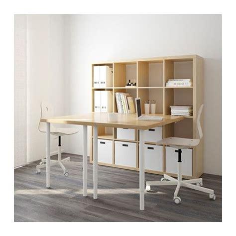 escritorio kallax kallax combinaci 243 n escritorio blanco azul abedul ikea
