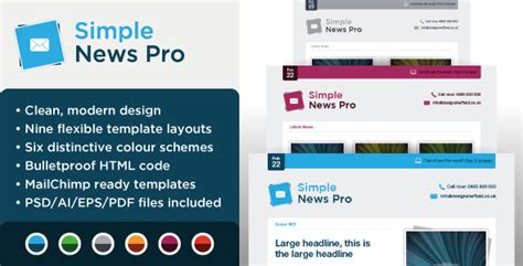 Headliner Email Marketing Newsletter Template By Dsthemes Themeforest Simple Email Template Html Free