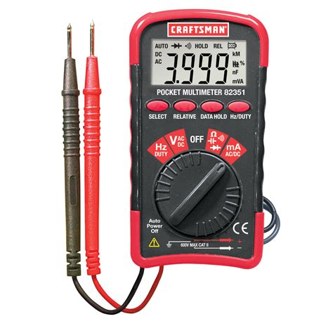 craftsman mini pocket multimeter with auto ranging