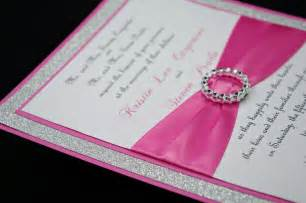 pink wedding invitation of bling sparkle and by invitebling