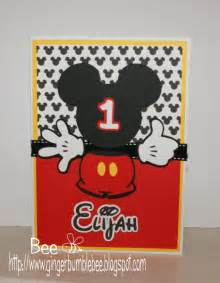 beehive bits and pieces mickey mouse 1st birthday card