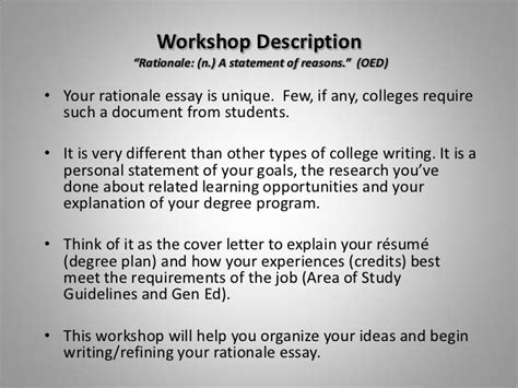 example of student resume how to write the rationale essay