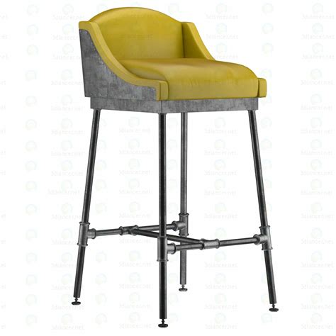 Iron And Stool Color by 3d Model Iron Scaffold Bar Stool 6 Colors
