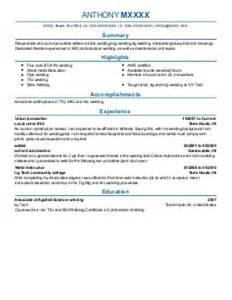 Tig Welder Sle Resume by Tig Welder Sle Resume