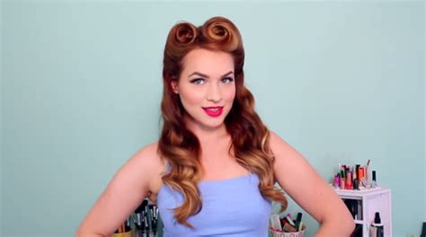 pin up hairstyles learn how to style the look at home