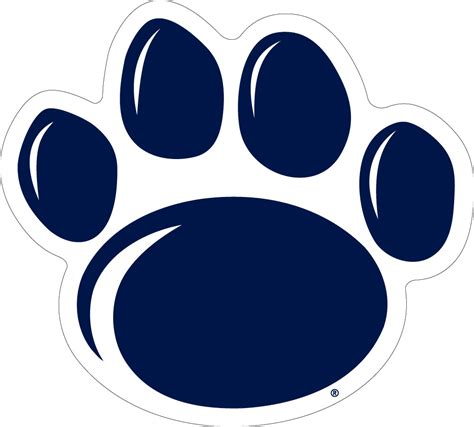 Penn State Find 12 Quot New Style Penn State Paw Vinyl Decal Wesellspirit
