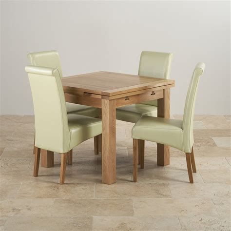 country cottage natural oak 5ft dining table cream painted dorset oak 3ft dining table with 4 cream chairs