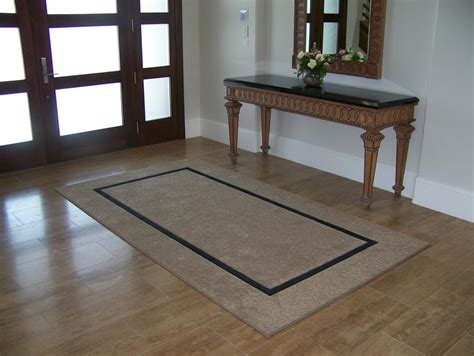 Entryway Area Rugs Inset Border Entry Area Rug From Southwest Bind N Stix Llc