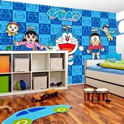wallpaper doraemon untuk kamar 10 gambar wallpaper dinding kamar tidur anak motif doraemon