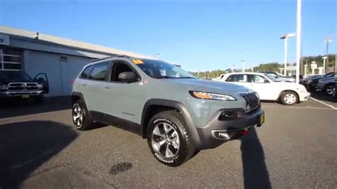 jeep cherokee gray 2015 jeep cherokee trailhawk anvil gray fw511040 mt