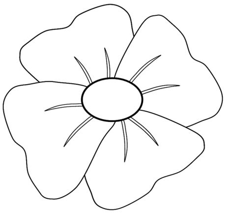 poppy printable template remembrance day poppy template clipart best