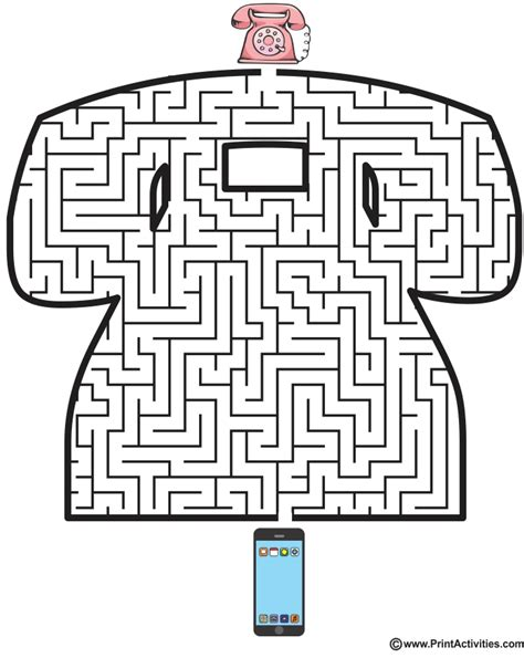 printable mazes shapes retro phone maze shaped like and old dial phone